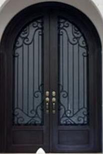 Puertas principales de forja herreria y forja for Puertas en forma de arco